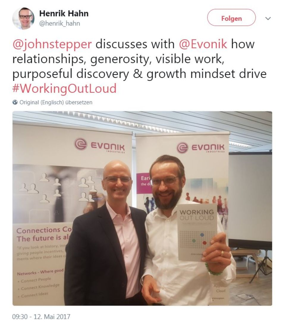 John Stepper visits Evonik